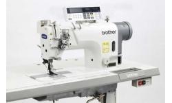 Двухигольная промышленная швейная машина Brother T-8752C-407 для шитья толстой нитью